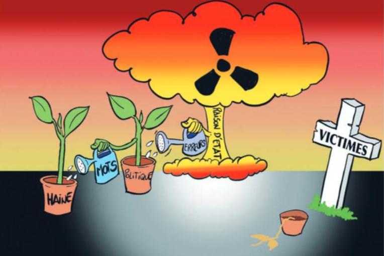 """"""" Nucléaire : Crimes contre l'humanité """" vu par Munoz"""