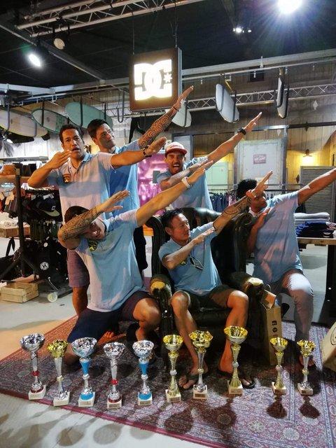 Nos six mūto'i ont remporté la quasi-totalité des médailles.