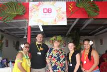 L'équipe de DB Tahiti, organisatrice de la foire d'octobre.