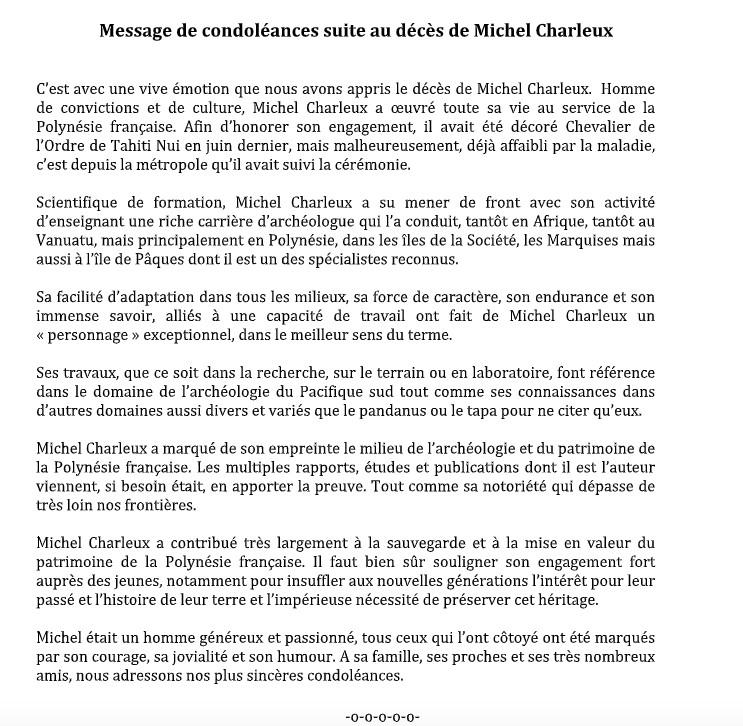 Michel Charleux, archéologue passionné et passionnant, est décédé