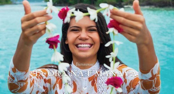 Capture d'écran du site internet de Tahiti Tourisme