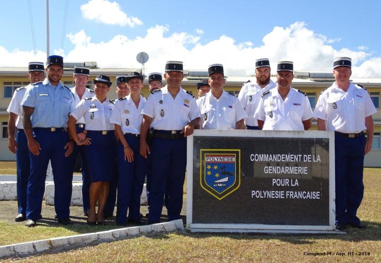 Prise de commandement à la brigade de gendarmerie de Faa'a