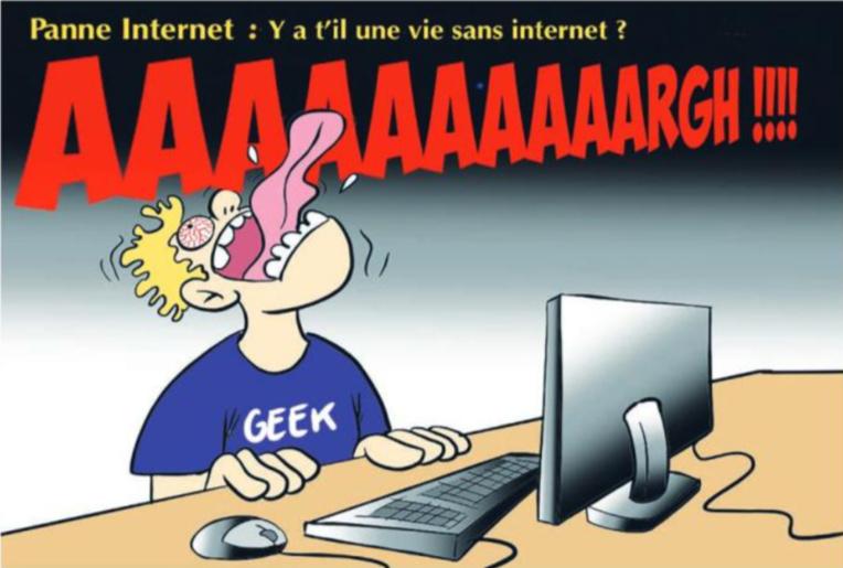 """"""" Panne Internet """" vu par Munoz"""
