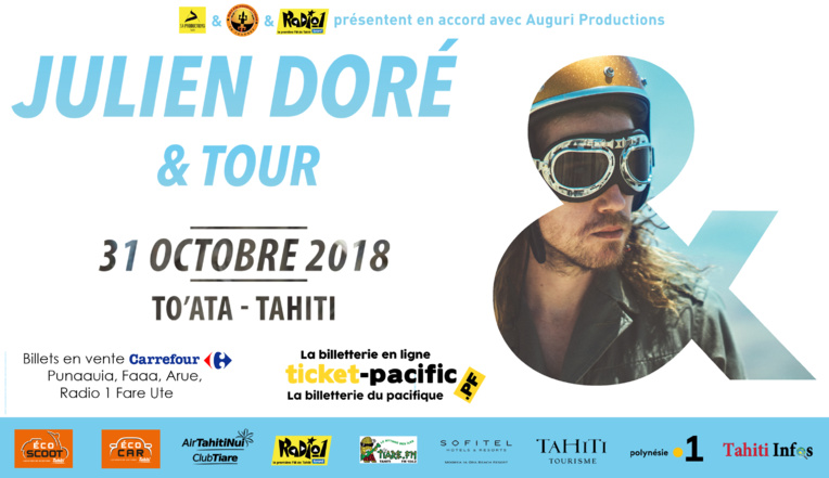 "Julien Doré  ""& tour"" à To'ata mercredi soir"