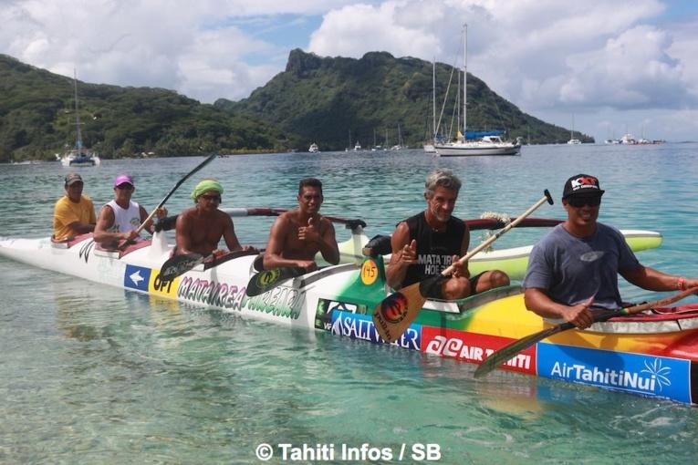 Le team Fare Ara de Huahine, tenant du titre en vétéran