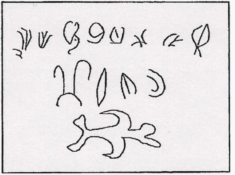 Ces signes sont les signatures de trois chefs pascuans ayant entériné la prise de possession de leur île par les  Espagnols. Des signes très proches de ceux relevés sur les rares bois gravés en rongo-rongo.
