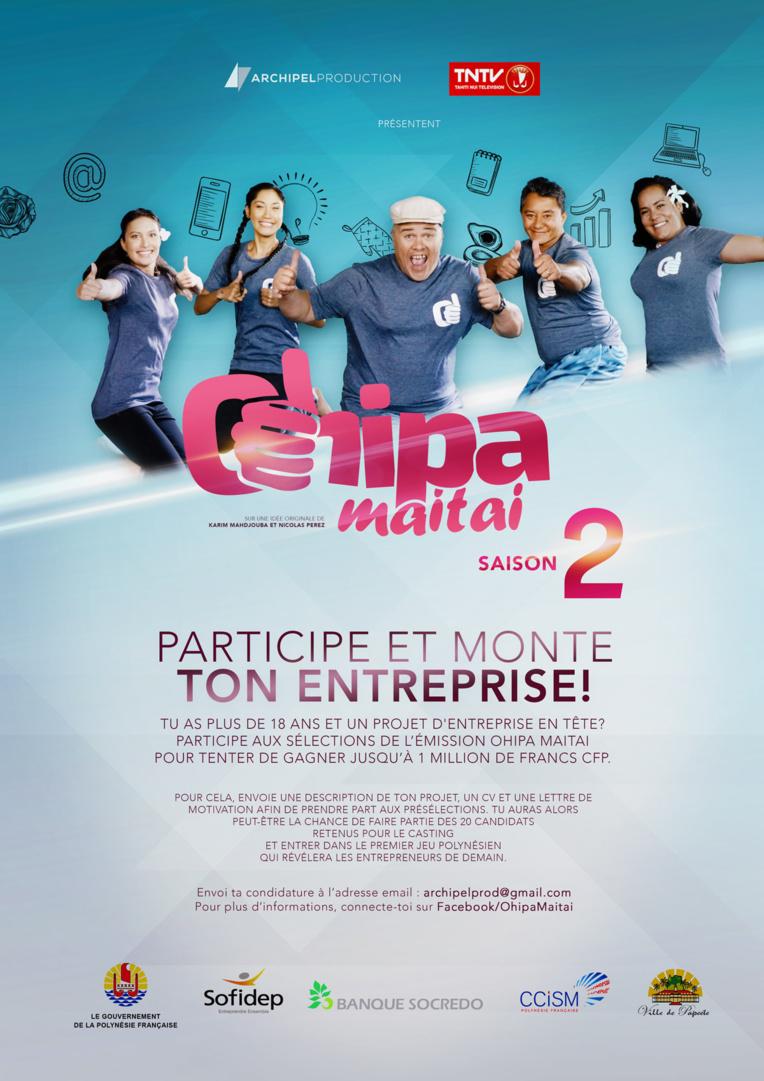 Ohipa Maitai saison 2, l'appel à projets est en cours