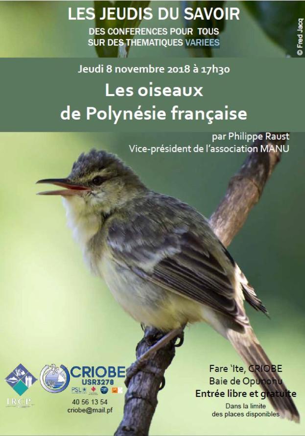 Les oiseaux de la Polynésie française présentés par Manu