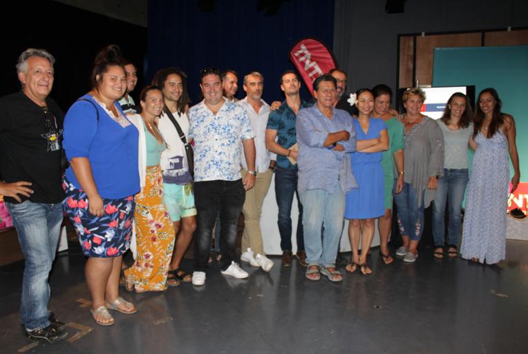 Les équipes de TNTV lors de la présentation de la grille pour 2018/2019.