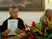Le budget de Gaston Tong Sang publié au Journal Officiel