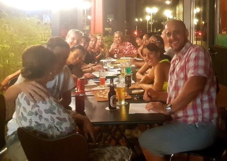 Un peu plus tard dans la soirée (crédit photo : Amis de l'Alsace en Polynésie)