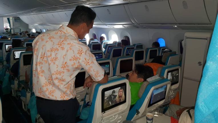 Premier vol commercial du Dreamliner d'Air Tahiti Nui