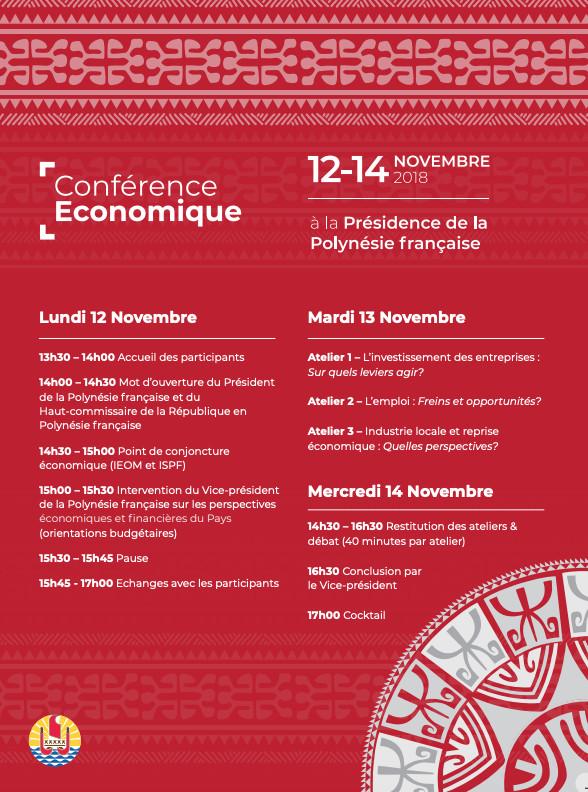 Conférence économique 2018 : Rencontre avec les acteurs économiques du Pays