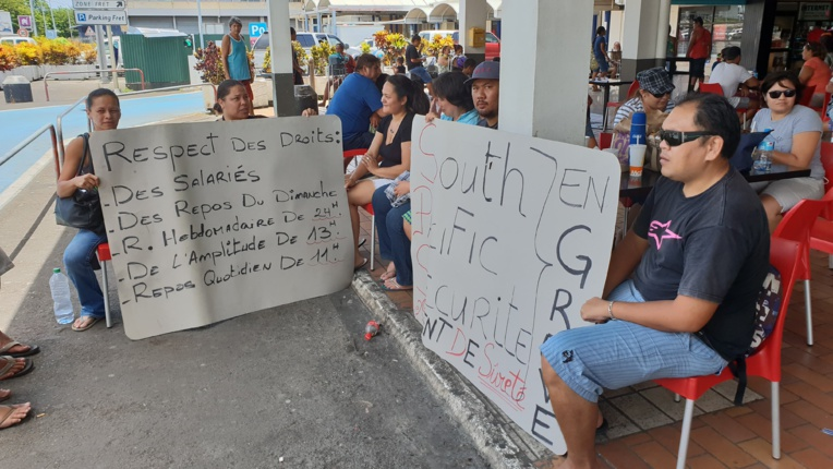 24 salariés de South Pacific Sécurité auraient suivi l'appel de la CSIP.
