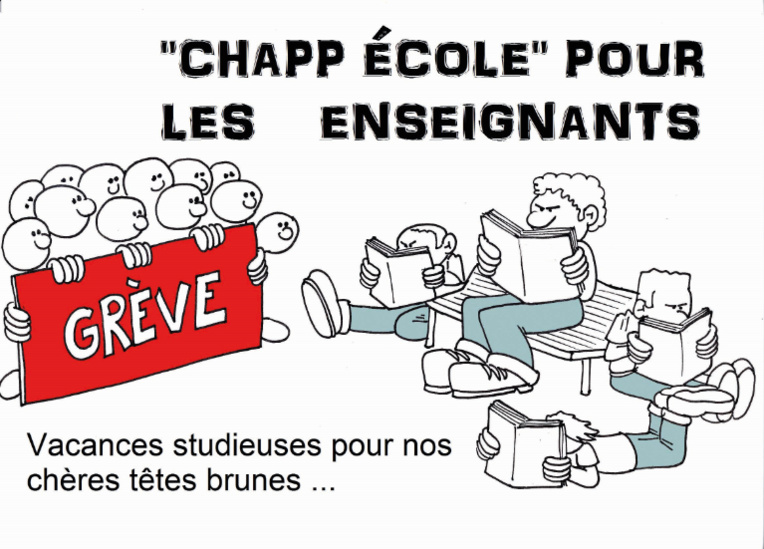 """"""" Grève de l'Education """" vu par Munoz"""