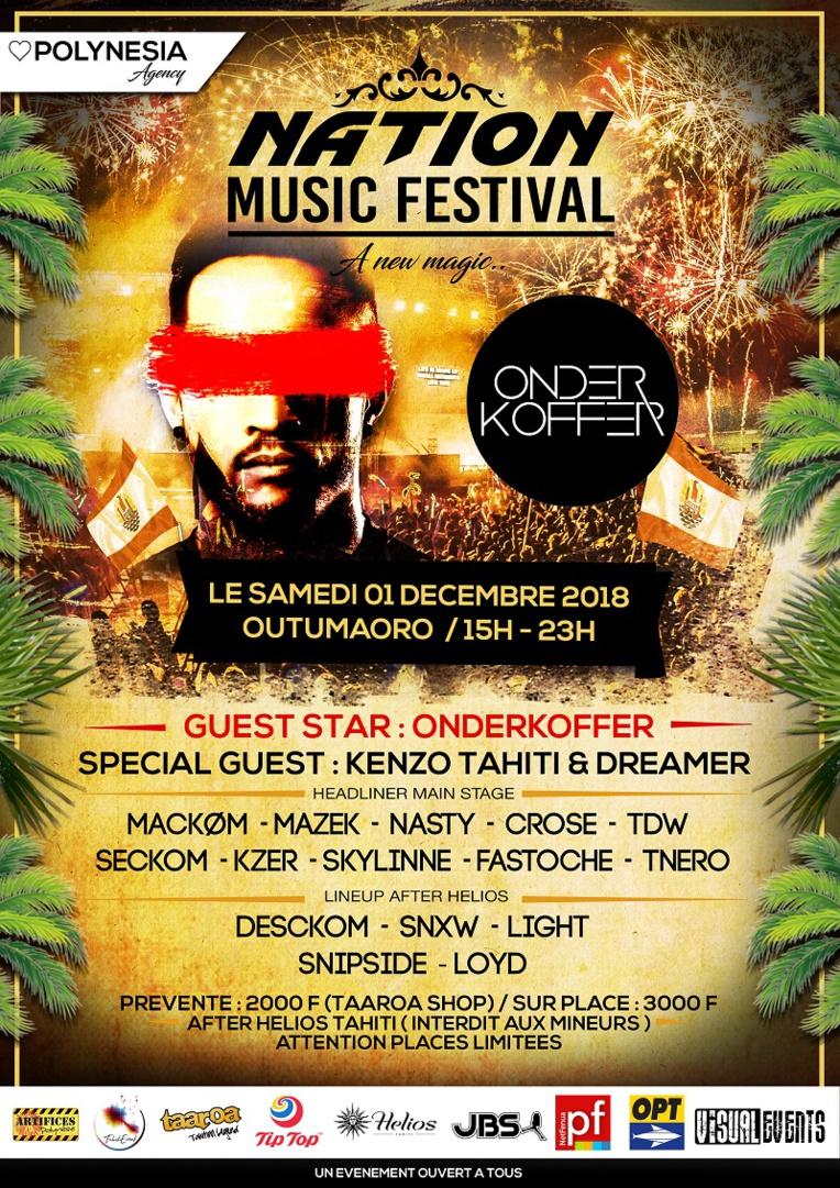 Le Nation Music Festival déplacé au 1er décembre avec un DJ international en guest star