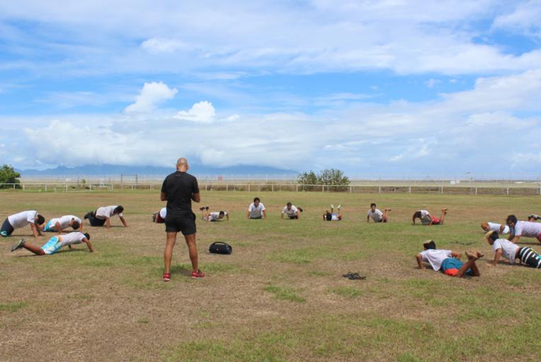 Les collégiens ont montré de bonnes aptitudes au CrossFit.