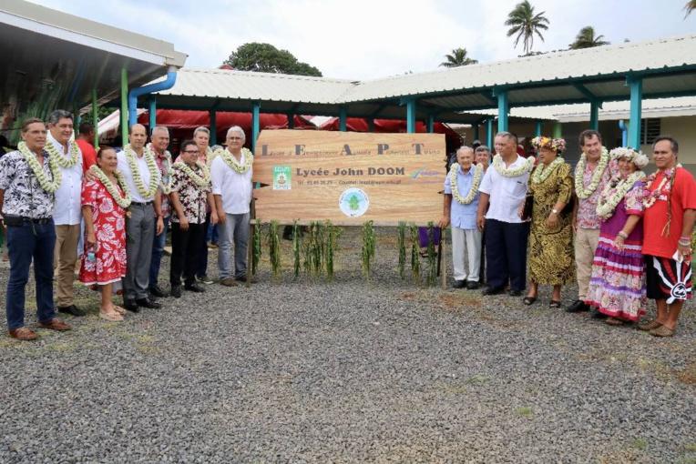 Le lycée a été inauguré vendredi 17 novembre. Crédit Haut-commissariat de la Polynésie française.