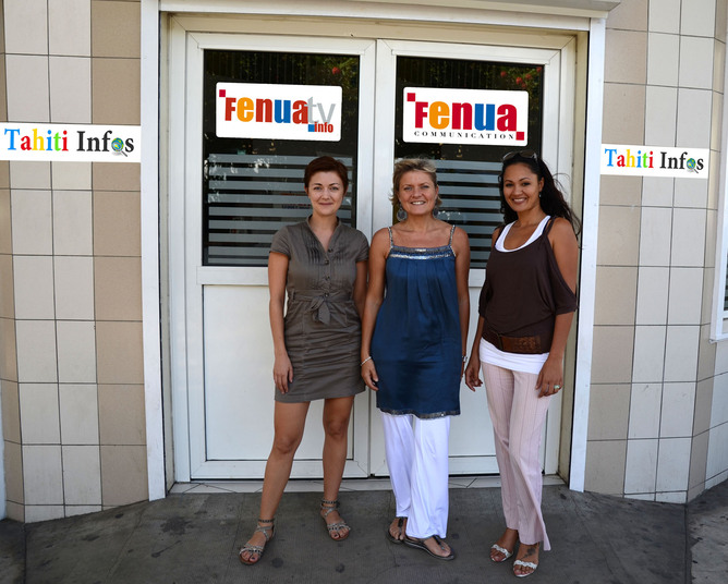 Florence, Nathalie et Vanessa, l'équipe de TAHITI INFOS