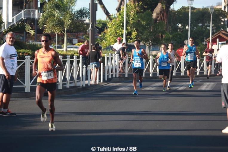 Samuel Aragaw a rapidement pris la tête de la course