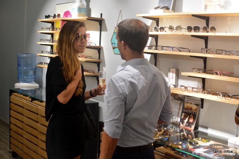 L'inauguration était une première occasion de tester ces modèles de lunettes de designers