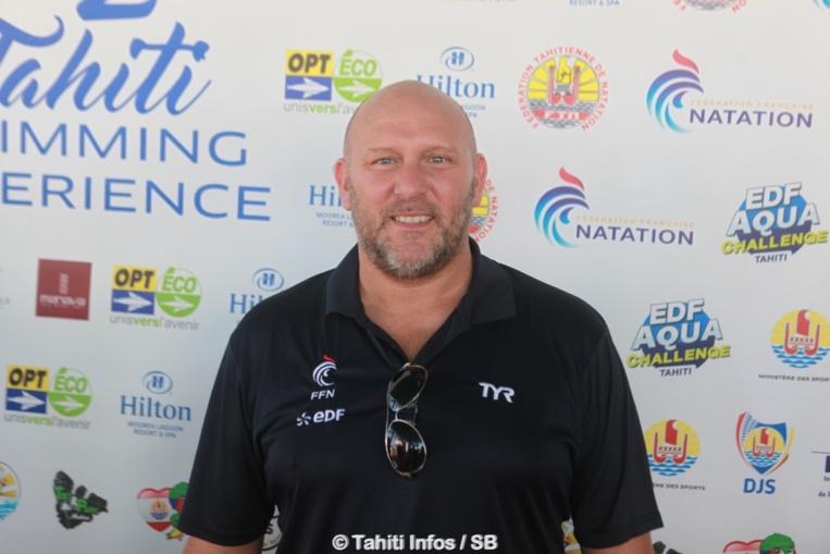 Stéphane Lecat, directeur sportif eau libre