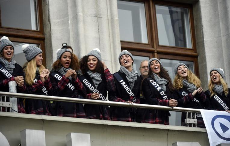 Les candidates au titre de Miss France présentées à Lille