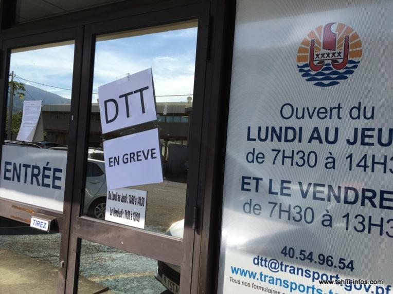 Grève : l'activité de la Direction des transports au point mort