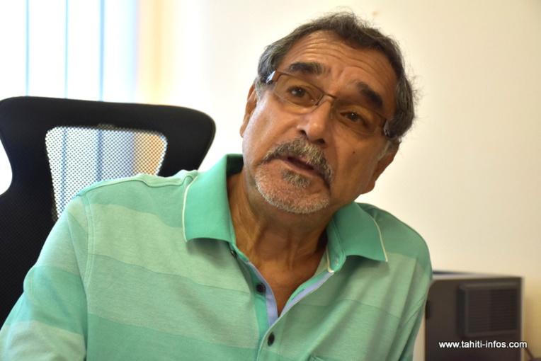 Angélo Frébault, vendredi matin à l'assemblée de la Polynésie française.