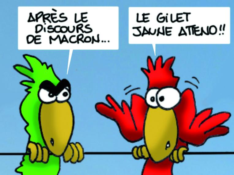 """"""" Macron et le gilet jaune """" par Munoz"""