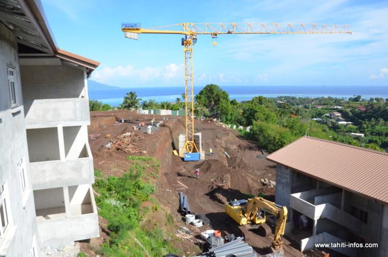 (photo d'illustration : Le chantier de la résidence Motio dans le quartier du Heiri à Faa'a)