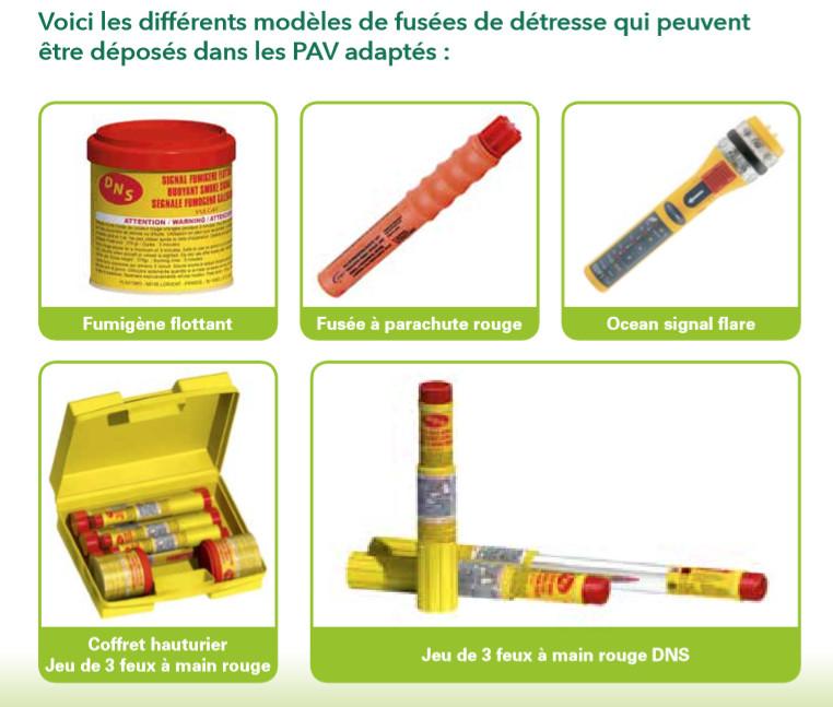 Des bornes gratuites pour les fusées de détresse usagées
