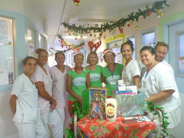 Polynélivre fête Noël en pédiatrie du CHPF