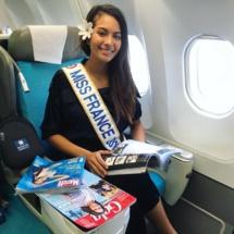 Miss France dans l'avion pour le fenua