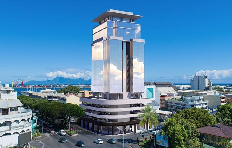 Dans cette immeuble de 18 à 20 étages, le promoteur prévoit d'y aménager quatre parkings, une salle de fitness avec piscine, deux étages de bureaux, un restaurant panoramique, et un hôtel.