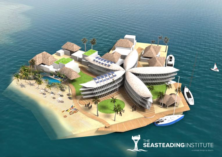 Un projet de plateforme pilote des îles flottantes était annoncé à l'étude dans le lagon de Teva i Uta.