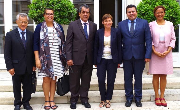 Le président Edouard Fritch, accompagné d'une délégation, a été reçu à Paris par Annick Girardin, ministre des Outre-mer.