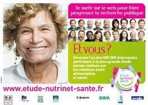 L'étude NutriNet-Santé veut disposer de 250.000 volontaires