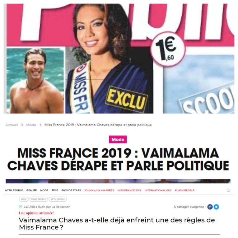 Miss France 2019 : les premiers gossips de la presse people