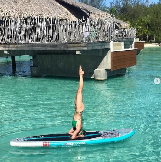 Sylvie Tellier trouve l'équilibre à Bora Bora