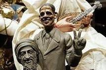 Naples propose déjà un santon d'Obama brandissant la tête de Ben Laden