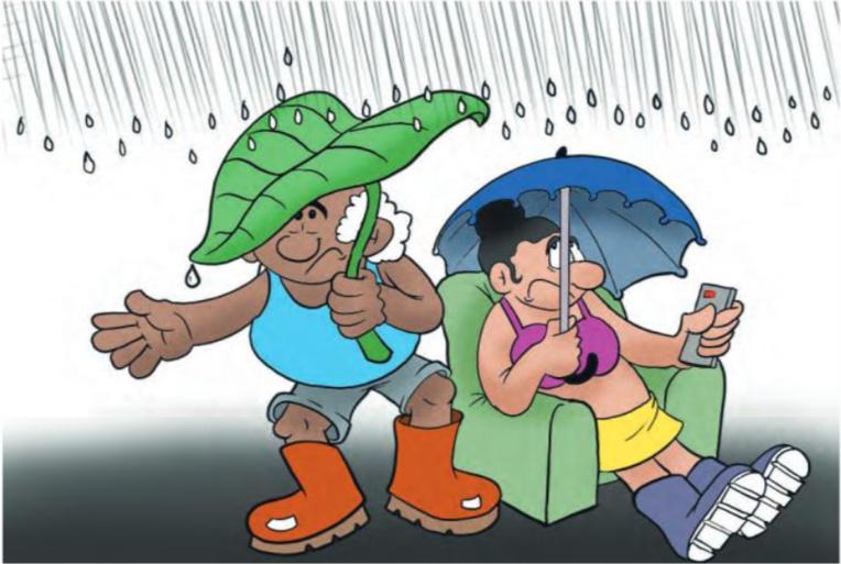 """"""" Un temps pluvieux """" vu par Munoz"""