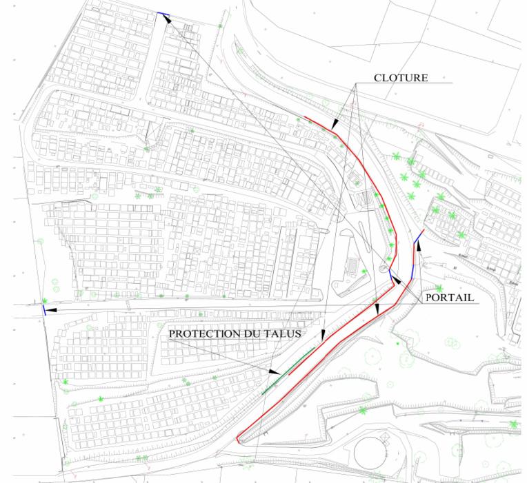 Voici le plan du futur cimetière.