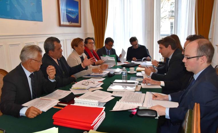 Toilettage statutaire : Edouard Fritch s'entretient avec le rapporteur du Sénat