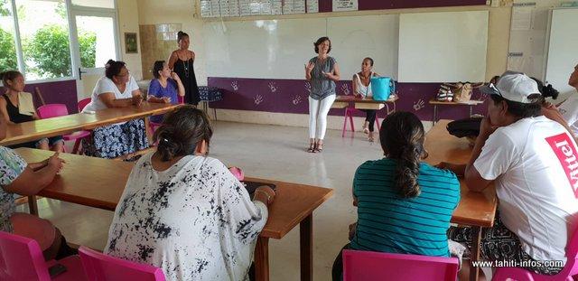 Durant huit semaines, une dizaine de parents suivront cette formation de soutien à la parentalité, à l'école Mama'o de Papeete.