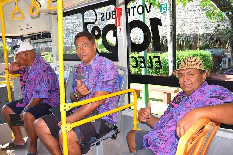 Les chauffeurs de bus de Faa'a ont apprécié la journée test à bord de ce bijou 100 % électrique.