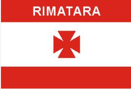Le drapeau de Rimatara avant le protectorat français.