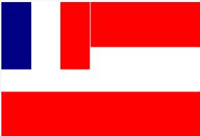 Le drapeau de Rimatara après l'instauration du protectorat.
