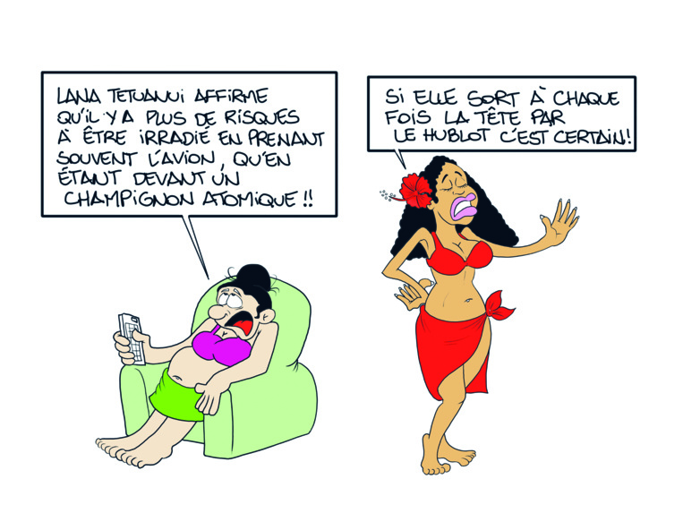""""""" Lana Tetuanui et les essais nucléaires """" vu par Munoz"""