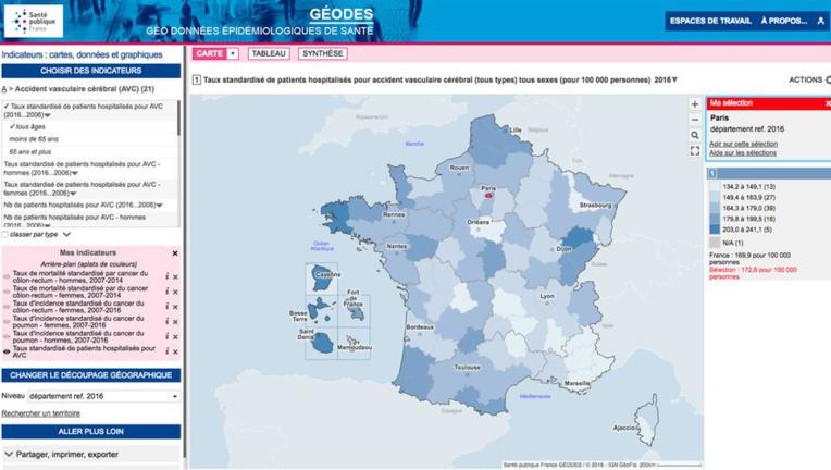 Données de santé: des cartes régionales disponibles sur un nouveau site officiel